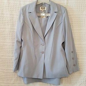 NWT Bill Blass Suit Light Blue - 16